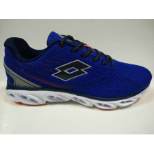 Dark Blue Breathable Lace up Jogging Shoes for Men