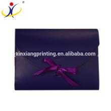 подгонянная Конструкция!Красочный причудливый изготовленный на заказ Упаковывая Коробка конверт с бантом