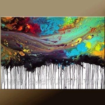 Hot Sale Design Art abstrait sur toile pour décoration intérieure (XD1-303)