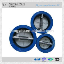 Grey iron dual plate water butterfly spring loaded check valve