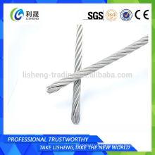 Galvanizado elétrico 6 * 19 corda de aço para guindaste