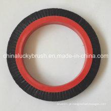 Escova redonda de cerda preta pura para a máquina de têxtil de textima (yy-422)