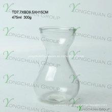 Moderno feito à mão vaso de vidro / mão feita de vidro transparente máquina Chearper flor pressionado vaso de vidro transparente