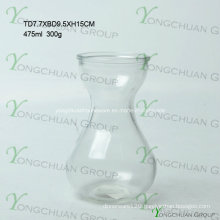 Modern Hand Made Glass Vase/Hand Made Clear Glass Flower Chearper Machine Pressed Clear Glass Flower Vase
