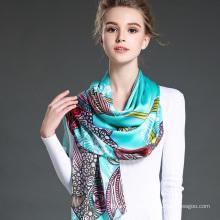 Neue Frauen True Silk Crepe Satin Lange Schal Shawl Factory