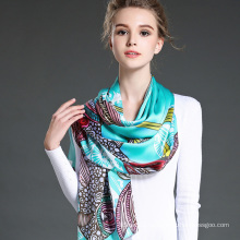 New Women True Silk Crepe Satin Long Scarf Shawl Factory
