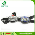 2 white led+ 1 red led high power headlamp