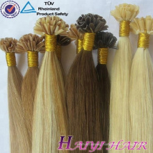 Brazilian Virgin Human Hair Nail Tip Prebonded Hair 100 Keratin Tipped Human Hair Extension