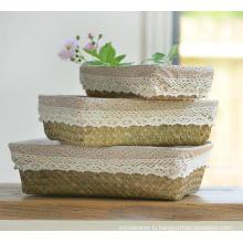(BC-ST1077) Good Quality Pure Manual Natural Straw Basket