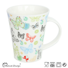 Tasse en forme de V de papillon coloré romantique Decal