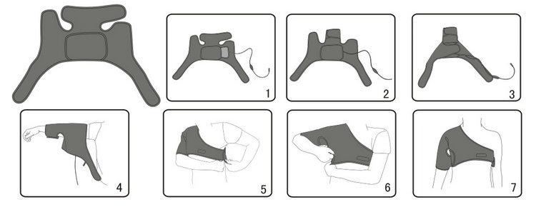 shoulder heating pad usage