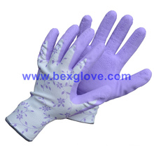 Garden Glove, Latex Glove, Foam Finish