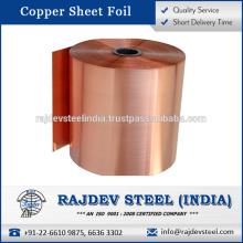 Indischer Lieferant für Kupferblechfolie Verkauf zu gutem Preis pro Kilogramm