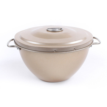 Golden Non-stick Cake Tin With Lid