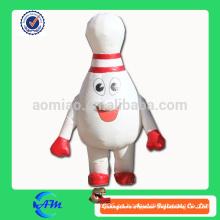 Traje inflable del traje inflable del perno de bolos de la bola de bowling para la venta