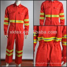 cvc fire vêtements de travail protecteurs avec bande réfléchissante