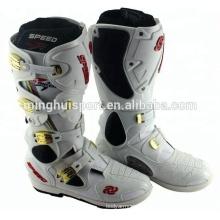 mode noire conception énergique chaussures en daim haute cheville motocross