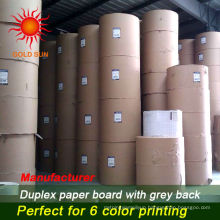 Clay coated grey back duplex board paper