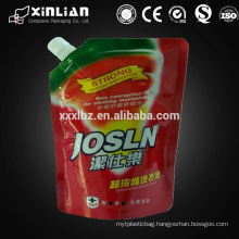 Wholesale custom 250ml detergent stand up doypack with spout
