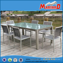 Garten Möbel Aluminium Tisch 7 PCS Esstisch und Stuhl Set