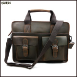 New selling cowhide leather handbag mens fashion shoulder bag