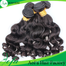 Peluca de pelo humano natural sin procesar Virgin Hair Natural Black