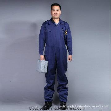 100 % coton haute qualité pas cher manches longues sécurité Coverall Workwear (BLY2003)