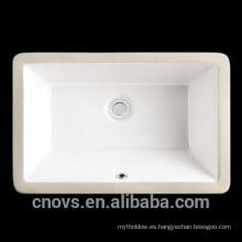 "Lavabo cupc rectangular empotrado rectangular de porcelana de 21 """