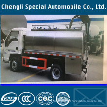Carro de transporte de leche de 4 x 2 Rhd 3tons petrolero