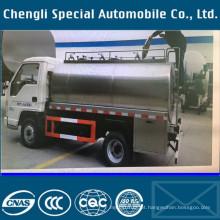 4 x 2 Rhd 3tons leite transporte caminhão-tanque