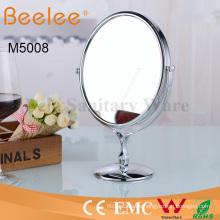 Espejo cosmético redondo espejo de lupa de maquillaje de doble cara