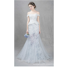 High quality Capped sleeve wedding dress charming style fish trail Bridal dress TS157