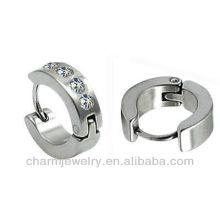Unisex Stainless Steel Earring Wholesale huggie earrings HE-034