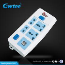 Европейское многофункциональное универсальное зарядное устройство для USB-настенной розетки