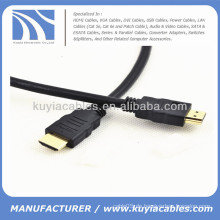 Schwarzes HDMI Kabel Volle 1080p 1.3V PVC Jacke