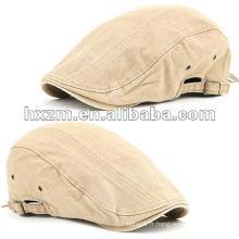 Newsboy Beret Flat Cap Hat Vintage Look JS BEIGE Cabbie Fashion