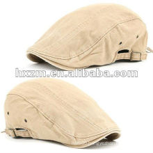 Newsboy Beret Flat Cap Hat Vintage Look JS BEIGE Cabbie Fashion