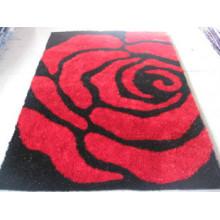 Розовый шелковый коврик