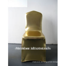 Brillante! cubierta de la silla del spandex de sello de oro para la boda y banquete