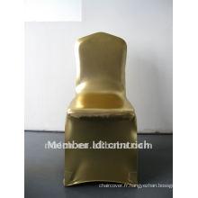 Shining! couverture de chaise de spandex de cachet or pour banquet et mariage