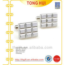 Engraved small squares logo metal cufflinks premium novelties