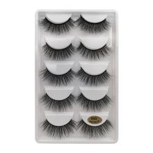 5 pairs 3d faux mink eyelashes false mink eyelashes natural fluffy cheap lashes 5 pair wholesale vendor