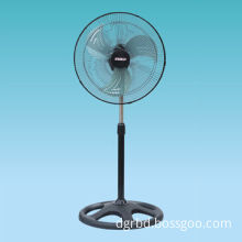 18-inch Stand Fan with Iron Blade, PVC Panel Box and Heavy Base