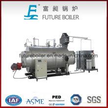 Generador de vapor alimentado por gas o aceite industrial (WNS 0.5-6t / h)