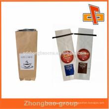 2015 preiswerter kundengebundener weißer Kraftpapierbeutel / brauner Papierbeutel / Fertigkeitpapierbeutelgroßverkauf für Kaffee