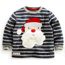 T-shirt de manga longa de impressão de moda em crianças roupas