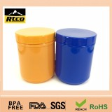 plastic jar screw lids used for personal care, sex capusal,protein powder
