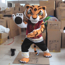 Cool Kung Fu Tiger Mascot Costume High Quality and Hand-made Cartoon Character Costume Party and Carnival Supply Adult Size