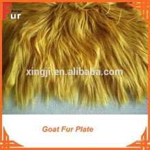 Высокое качество крашеный мех козы пластины