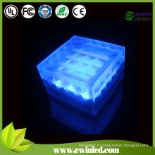 (15 * 15cm) les lumières de mur de brique de LED avec le verre trempé / résine époxyde / marbre / pierre
